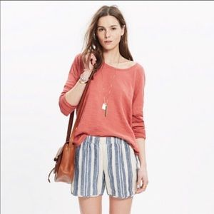 Madewell Linen Pull On Short Size Xsmall